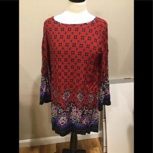 Long sleeve scoop neck dress/top